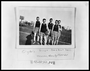 Primary view of object titled 'Clyde's First Basketball Team'.