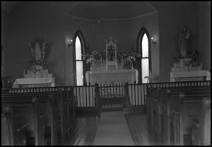[Photograph of the Interior of St. Mary's Catholic Church]