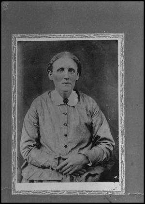 Primary view of object titled '[Photograph of Martha Teressa Sewell]'.