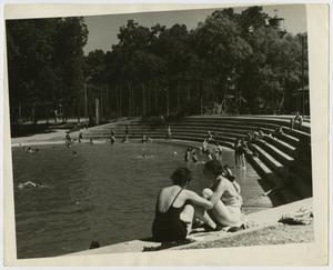 Primary view of object titled '[People at Public Swimming Pool]'.