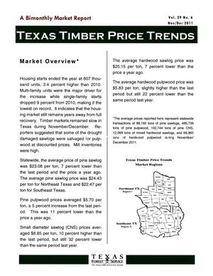 Primary view of object titled 'Texas Timber Price Trends, Volume 29, Number 6, November/December 2011'.