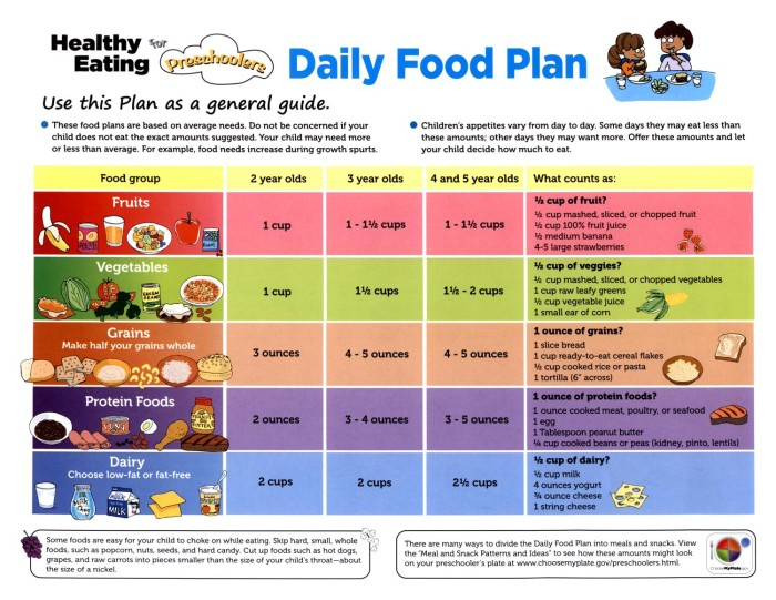 Healthy Eating For Preschoolers Daily Food Plan The Portal To Texas History