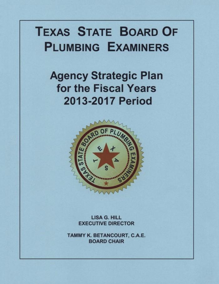 texas board of plumbing examiners Texas State Board of Plumbing Examiners Strategic Plan: Fiscal Years ...