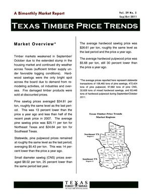 Primary view of object titled 'Texas Timber Price Trends, Volume 29, Number 5, September/October 2011'.