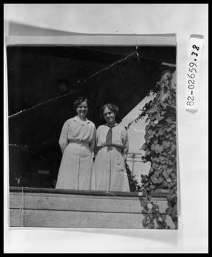 Primary view of object titled 'Two Women on Porch'.