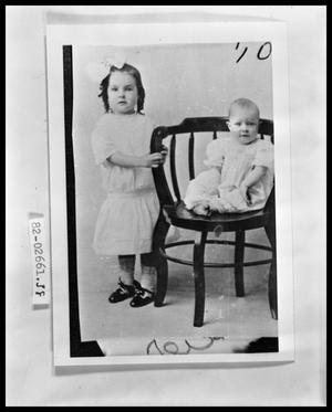 Primary view of object titled 'Portrait of Two Children'.