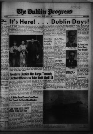Primary view of object titled 'The Dublin Progress (Dublin, Tex.), No. 3, Ed. 1 Friday, April 7, 1961'.