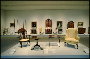 Primary view of object titled 'Dallas Museum of Art Installation: American Decorative Arts [Photograph DMA_90010-10]'.