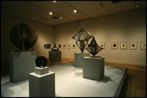 Primary view of object titled 'Naum Gabo: Sixty Years of Constructivism [Photograph DMA_1374-19]'.