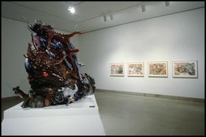 Primary view of object titled 'Luis Jimenez: Working Class Heroes, Images from the Popular Culture [Photograph DMA_1540-14]'.