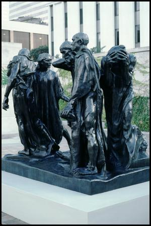 Primary view of object titled 'Rodin's Monument to the Burghers of Calais [Photograph DMA_1404-06]'.
