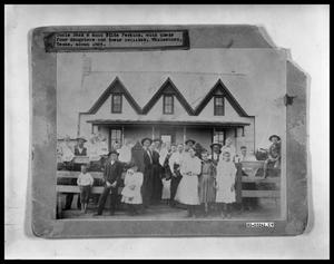 Primary view of object titled 'House Exterior With Family'.