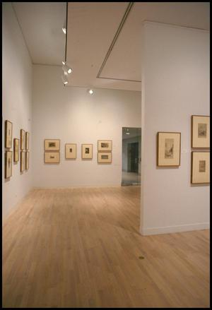 Primary view of object titled 'Drawing Near: Whistler Etchings from the Zelman Collection [Photograph DMA_1370-05]'.
