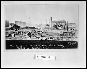 Primary view of object titled 'Town Ruins After Raid'.
