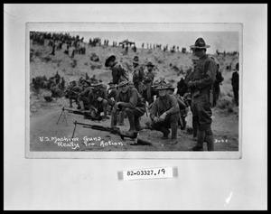 Primary view of object titled 'Soldiers with Machine Guns'.