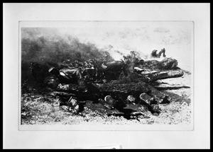 Primary view of object titled 'Cremating Bodies on Pyre #1'.