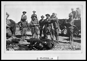 Primary view of object titled 'Soldiers Cremating Dead Bandits #2'.