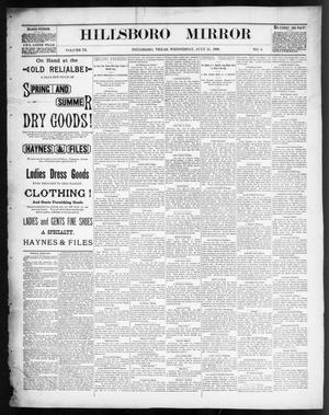 Primary view of object titled 'Hillsboro Mirror (Hillsboro, Tex.), Vol. 9, No. 3, Ed. 1 Wednesday, July 31, 1889'.