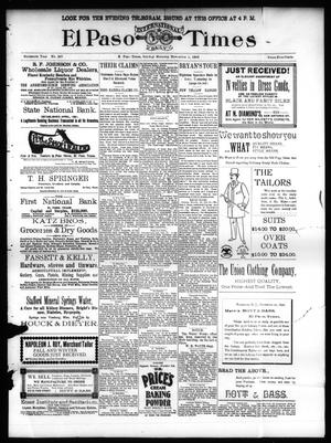 Primary view of object titled 'El Paso International Daily Times (El Paso, Tex.), Vol. SIXTEENTH YEAR, No. 267, Ed. 1 Sunday, November 1, 1896'.