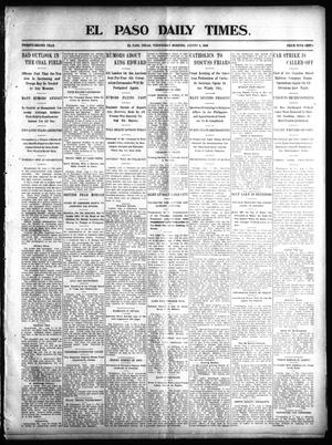 Primary view of object titled 'El Paso Daily Times. (El Paso, Tex.), Vol. 22, Ed. 1 Wednesday, August 6, 1902'.