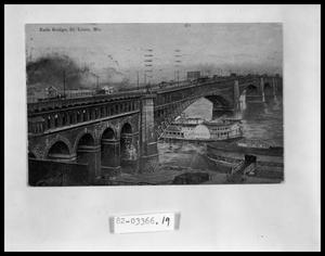 Primary view of object titled 'Ships Under Bridge'.