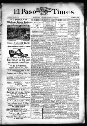 Primary view of object titled 'El Paso International Daily Times (El Paso, Tex.), Vol. Fifteenth Year, No. 234, Ed. 1 Wednesday, October 2, 1895'.