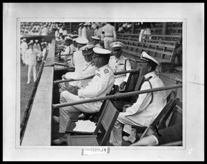 Primary view of object titled 'Naval Officers at Ball Game'.