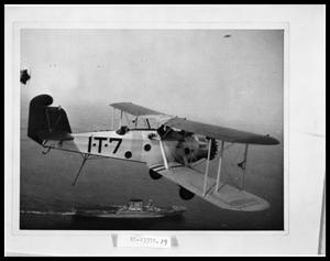 Primary view of object titled 'Aerial View of Plane and Ship'.