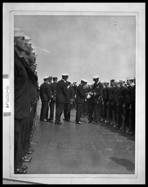 Primary view of object titled 'Naval Ceremony on Ship'.