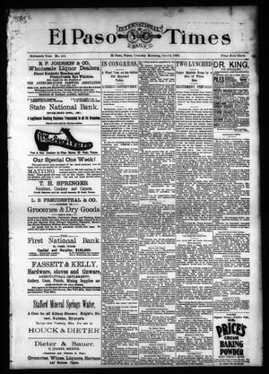 Primary view of object titled 'El Paso International Daily Times (El Paso, Tex.), Vol. SIXTEENTH YEAR, No. 133, Ed. 1 Tuesday, June 2, 1896'.