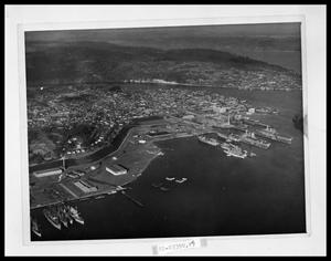 Primary view of object titled 'Aerial View of Port Town'.
