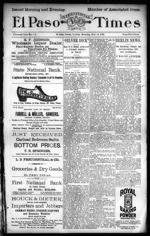 Primary view of El Paso International Daily Times (El Paso, Tex.), Vol. 15, No. 113, Ed. 1 Sunday, May 12, 1895