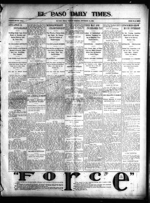 Primary view of object titled 'El Paso Daily Times. (El Paso, Tex.), Vol. 22, Ed. 1 Tuesday, September 16, 1902'.