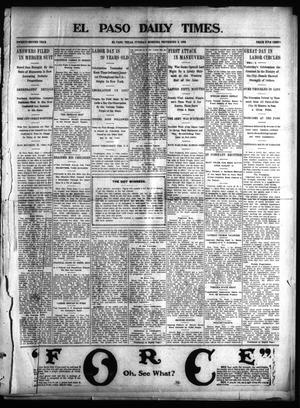 Primary view of object titled 'El Paso Daily Times. (El Paso, Tex.), Vol. 22, Ed. 1 Tuesday, September 2, 1902'.