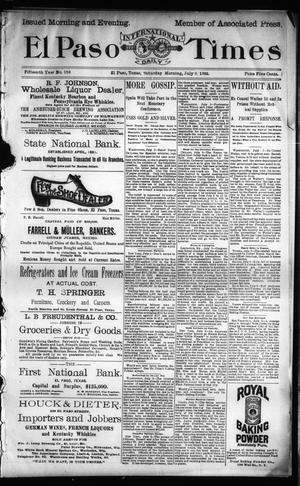 Primary view of object titled 'El Paso International Daily Times (El Paso, Tex.), Vol. Fifteenth Year, No. 159, Ed. 1 Saturday, July 6, 1895'.