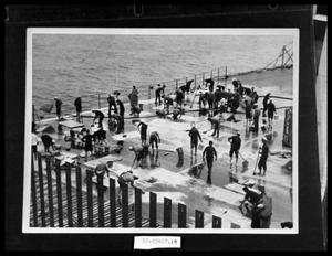 Primary view of object titled 'Ship Crew Working on Deck'.