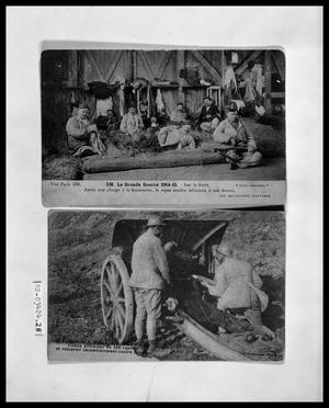 Primary view of object titled 'Soldiers in the Field; Soldiers with Cannon'.