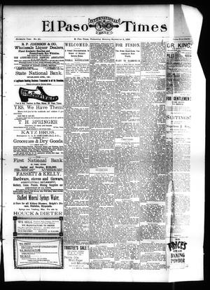 Primary view of object titled 'El Paso International Daily Times (El Paso, Tex.), Vol. SIXTEENTH YEAR, No. 221, Ed. 1 Wednesday, September 9, 1896'.