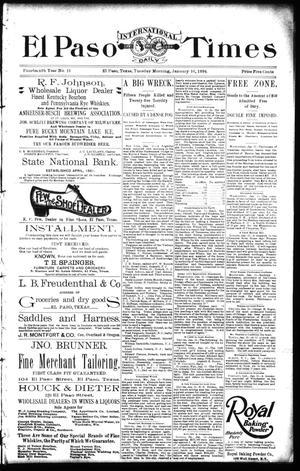 Primary view of El Paso International Daily Times (El Paso, Tex.), Vol. 14, No. 13, Ed. 1 Tuesday, January 16, 1894