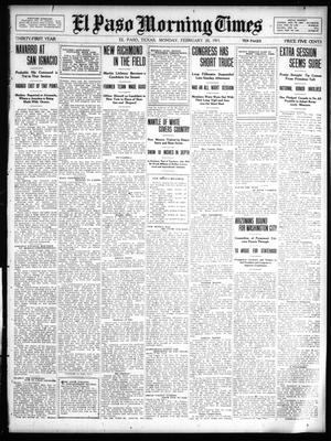 Primary view of object titled 'El Paso Morning Times (El Paso, Tex.), Vol. 31, Ed. 1 Monday, February 20, 1911'.