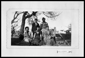 Primary view of object titled 'People in Costume in Park'.