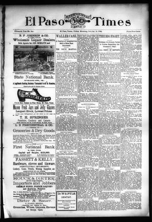 Primary view of object titled 'El Paso International Daily Times (El Paso, Tex.), Vol. Fifteenth Year, No. 248, Ed. 1 Friday, October 18, 1895'.