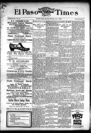 Primary view of object titled 'El Paso International Daily Times (El Paso, Tex.), Vol. SIXTEENTH YEAR, No. 173, Ed. 1 Thursday, July 16, 1896'.
