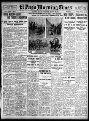 Primary view of object titled 'El Paso Morning Times (El Paso, Tex.), Vol. 31, Ed. 1 Saturday, March 25, 1911'.