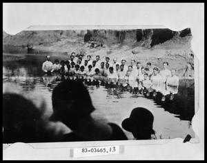 Primary view of object titled 'Baptism in River'.
