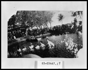 Primary view of object titled 'Baptism in Stock Tank'.