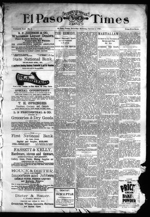 Primary view of object titled 'El Paso International Daily Times (El Paso, Tex.), Vol. Sixteenth Year, No. 4, Ed. 1 Saturday, January 4, 1896'.