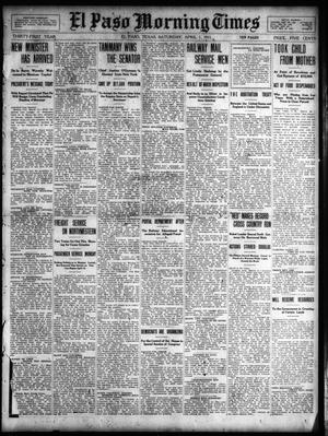 Primary view of object titled 'El Paso Morning Times (El Paso, Tex.), Vol. 31, Ed. 1 Saturday, April 1, 1911'.