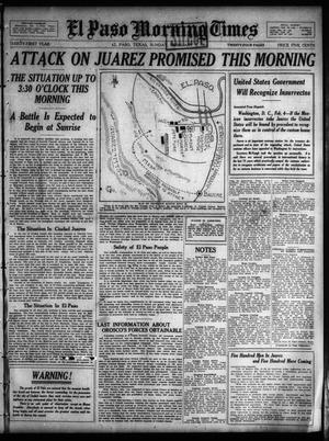 Primary view of object titled 'El Paso Morning Times (El Paso, Tex.), Vol. 31, Ed. 1 Sunday, February 5, 1911'.
