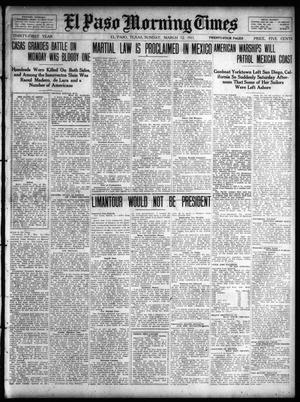 Primary view of object titled 'El Paso Morning Times (El Paso, Tex.), Vol. 31, Ed. 1 Sunday, March 12, 1911'.